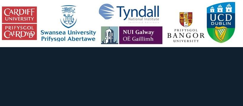 Logos for: Swansea university, banger university, cardiff university, tyndall,nui galway, university college dublin