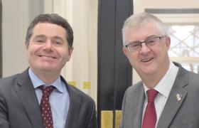 Minister Donohoe with Welsh Finance Minister Mark Drakeford