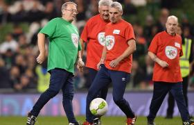 walking football players