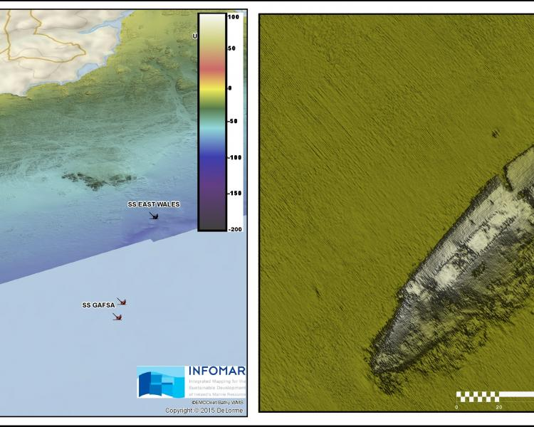 Wreck image from Geological Survey Ireland.
