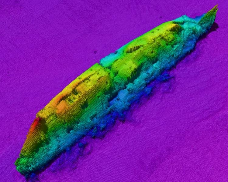 Wreck Image of RMS Lusitania from Geological Survey Ireland.